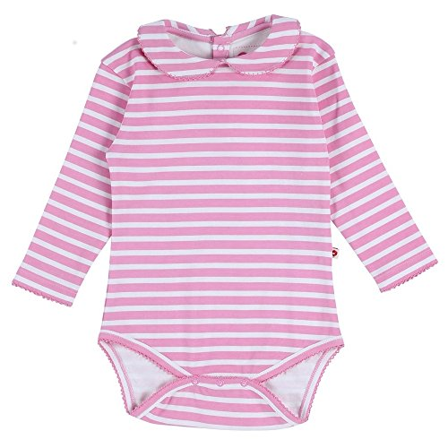 Piccalilly Organic Cotton Pink Baby Girls Stripe Baby Body