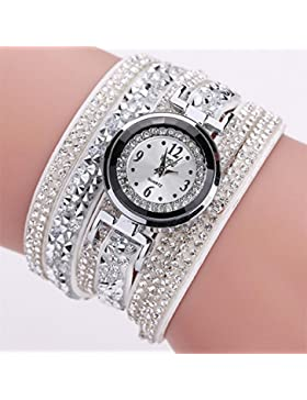 Hunpta Frauen Mode Casual Analog Quarz Frauen Strass Watch Armbanduhr