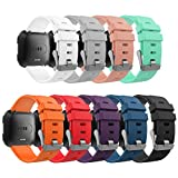 """MoKo Band for Fitbit Versa, [9 PACK] Premium Soft Silicone Watch Band Replacement Strap Band Bracelet for Fitbit Versa/Blaze Fitness Wristband, Fits 5.11""""-7.68"""", Multi Colors"""