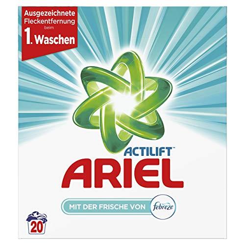 Ariel Vollwaschmittel Pulver (mit der Frische von Febreze) 1,3 Kg, 20Waschladungen