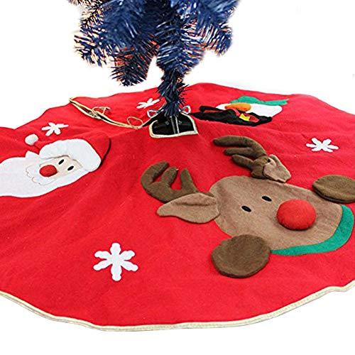 Weihnachtsbaum Rock, Designerbox 101,6cm/100cm rund Schneeflocke Weihnachtsmann Schneemann Elch Weihnachten Urlaub Jute Baum Rock Matte für Weihnachten Urlaub Party Dekoration