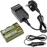 DSTE Replacement Battery + Charger DC19U for Canon BP-511, BP-511A