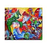 "Pintura Lienzo al Óleo Arte Abstracto Moderno ""AMOR MISTERIOSO"" por DOBOS, Cuadro Original para..."