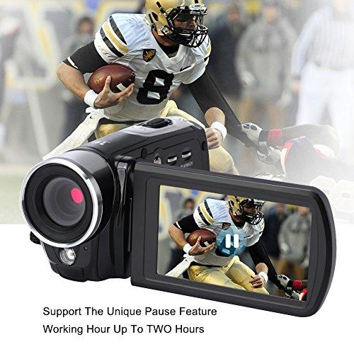 Videokamera Camcorder FHD 1080P Digitalkamera Nachtsicht 24.0MP Mit 16x Digital Zoom 3 Zoll Rotation Touchscreen