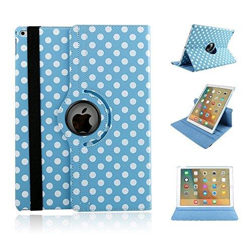 Neu iPad 2017 iPad 9.7 Hülle Case Schutzhülle,Miya 360 Grad Rotierend Stand Smart Cover Case Schutzhülle Tasche Etui mit Auto Schlaf / Wach Funktion für 2017 New iPad - Blau (Auto-tippen Sie Auf Die Lichter)