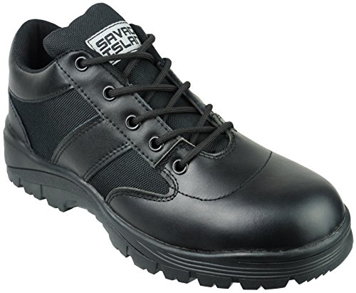 Savage Island Leather Combat Patrol Shoes Black (UK 9)