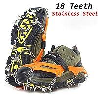 Backcountry-Ausrüstung Eisschnee-Griffe, Steigeisen Für Schuhe Mit 18 Kalten Stahlspitzen.