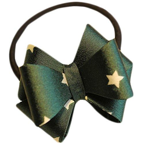 Hair Bands Mode Corde cheveux bowknot Accessoires cheveux(vert étoiles)