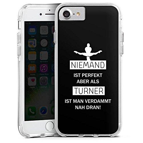 Apple iPhone 6s Plus Bumper Hülle Bumper Case Glitzer Hülle Turner Sport Turnen Bumper Case transparent