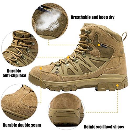 Free Soldier Herren Tactical Stiefel MID HIGH RISE Wandern Schuhe Winter Leder Stiefel Mud Color