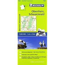Michelin Oberrhein, Schwarzwald: Straßen- und Tourismuskarte 1:200.000 (MICHELIN Zoomkarten)