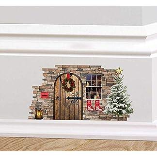 A TODO COLOR Navidad Duendecillo Hada Elfo Puerta Festivo Adhesivo de pared Rodapié Decoración Navidad Corona MEDIAS árbol de Navidad