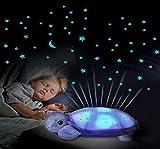 #7: Diswa Musical Turtle Led Night Light Music Projector Lamp Sky Star Novelty Lamp Children Toy Song Music Lighting Baby Sleep Light