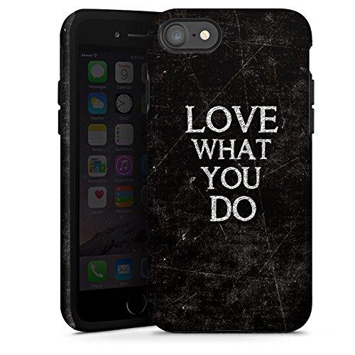 Apple iPhone X Silikon Hülle Case Schutzhülle Love Liebe Sprüche Tough Case glänzend