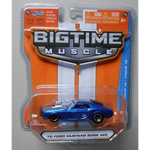 Jada Bigtime Muscle 1/64 Blue '70 Ford Mustang Boss 429 by (70 Boss 429 Mustang)