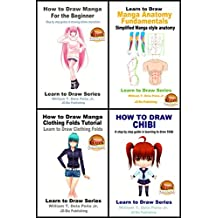 4 Book Set - How to Draw Manga, Chibi and Anime (Learn to Draw Series 27)