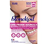Blondépil Cire Froide Haute Performance Sourcils 32 Bandes - Lot de 3