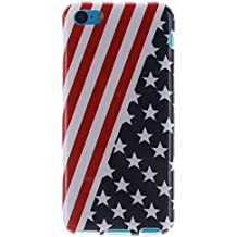 Coque Apple iPhone 5C,Cozy Hut® Coque Gel TPU Silicone Dessinez motif pour Apple iPhone 5C - Housse Etui Protection Full Silicone Souple Ultra Mince Fine Slim, TPU avec Absorption de Choc, Etui Silicone Transparente, Très Légère / Ajustement Parfait / Coque pour Apple iPhone 5C - Drapeau américain
