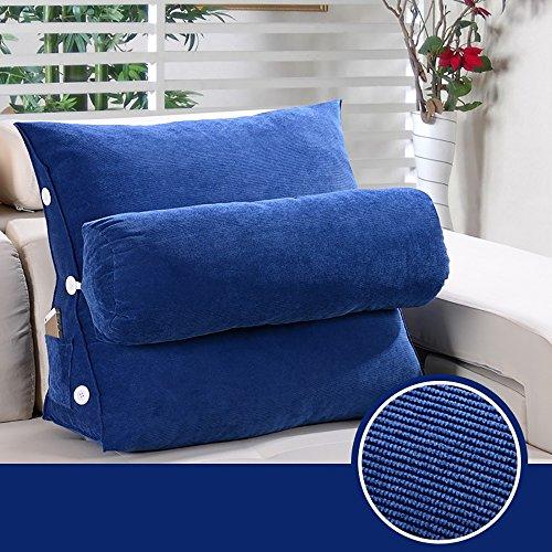 Back 2 Sitz Sofa (G-Y Dreieck Kissen Sofa Kissen Sitz Rückenlehne Solid Color Back Pad Modern Simplicity Kissen (Farbe : 2#, größe : 50 * 60cm))