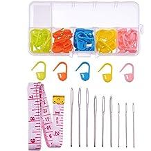 schlie/ßend 100 St/ück f/ür Strick- und H/äkelarbeiten mehrere Farben Miryo Maschenmarkierer aus Kunststoff // Stitch Marker