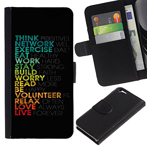 Graphic4You Record Cracks Design Brieftasche Leder Hülle Case Schutzhülle für Apple iPhone 6 / 6S Design #5