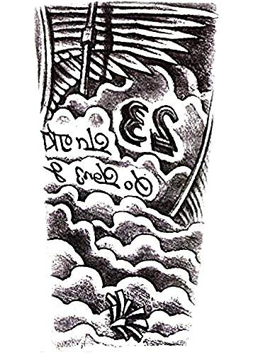Inception pro infinite hb - 087 - tattoo finto per il corpo - braccia - spalla - nuvole - 23 - ali - uomo