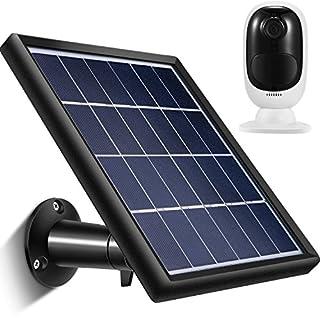 Solar Panel Kompatibel mit Reolink Go, Reolink Argus 2, Reolink Argus Pro (Kamera nicht enthalten), Wetterfest, 3,6 m/ 11,8 ft Stromkabel und 360 Grad Halterung, 5 V/ 3,5 W (Max) (Schwarz)