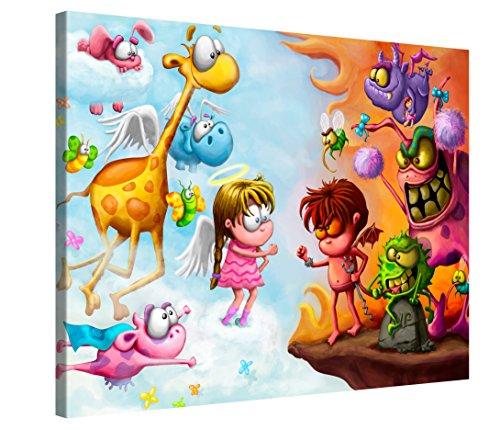 Picanova Impression sur Toile Multicolore 80 x 60 cm