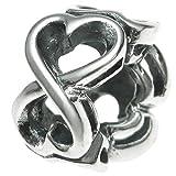 Die besten Freund Ringe Infinities - 925Sterling Silber Infinity Love Herz Valentine Perle für Bewertungen
