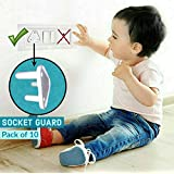 KidDough Baby Proofing Electrical Protector Socket Plug Cover Guards | Open Sockets Guard | Electric Plugs Cover | Baby Proofing (Pack of 10)