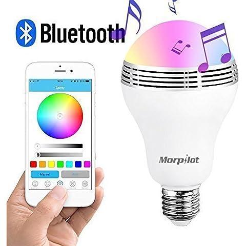 Bluetooth euuk Morpilot 4,0 altavoz luz de noche LED inteligente Playbulb Audio Música RGB lámpara-smartphone libre APP controlado-brightlightz pantalla LED-un monstruos de bolsillo para tu fiesta