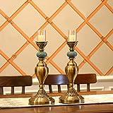 Warm Heart Europäische Uhren und Uhren Ornamente American Home Uhren Sitzen Uhren Wohnzimmer Tischuhren Kreative Studie Dekorationen, Kerzenhalter