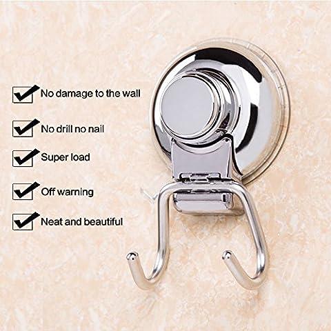 Zantec Bathroom wall Waterproof Nailless 360° Rotary Powerful Sucker Double