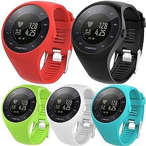 para reloj polar m200 correas 6 colores bandas de reemplazo suave silicona correas pulsera para POLAR M200 GPS reloj smartwatch, ancho de banda 20MM by Sannysis de Sannysis