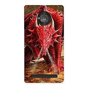 Stylish Red Fantastic Dragon Back Case Cover for Yu Yunique