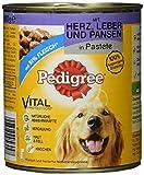 Pedigree Hundefutter Nassfutter mit Herz, Leber und Pansen in Pastete, 12 Dosen (12 x 800g)