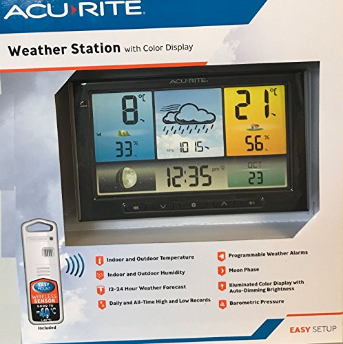 AcuRite Weather Station with Colour LCD Display and Wireless Outdoor Sensor