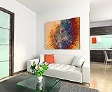 Paul Sinus Art XXL Fotoleinwand 120x80cm Vintage Gemälde eines Baum Querschnitts auf Leinwand exklusives Wandbild moderne Fotografie für ihre Wand in vielen Größen Vergleich