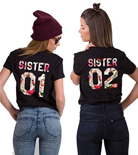 riends T-Shirts BFF T-Shirt für Zwei 2 Mädchen BFF Oberteile BFF Geschenke 2 Stücke ()