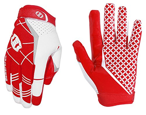 Seibertron Pro 3.0 Elite Ultra-Stick Sports Receiver Glove American Football Gloves Youth and Adult/Guantes de Fútbol Americano para Juventud y Adulto (Rojo, S)