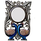 Handicraft Village Decorative Handicraft Wall Mirror For Home Decore, Gift Purpose (HV1776_Mullti-Colour)