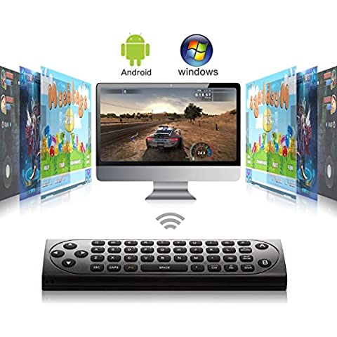 Mini teclado inalámbrico de ratón remoto Fly Air Control 2.4GHz Modo Dual Una clave de aprendizaje caja fuerte TV IR Media Player android HTPC PC con Windows iOS MAC Linux PS3 X 360 (MX9