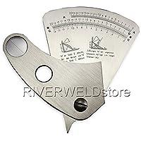 2años de garantía Sector Medidor regla en forma de abanico de calibre 0–20mm de soldadura de acero inoxidable soldadura inspección [Abbott]