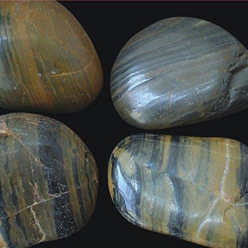 OCEANMAX Kieselsteine vergnüglicher 5–8cm/5kg Boden Aquarium Teich Garten