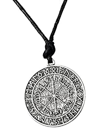 MagiDeal Intage Viking Odin Symbol Rune Amulet Knot Compass Pendant Necklace Nylon Rope Chain