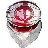 DAS ART VILLA Square Shaped Glass Jar Container (Transparent White) 1200 ML