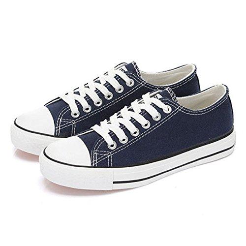Oasap Damen Klassisch Canvas Schnürsenkel Sneakers Beige