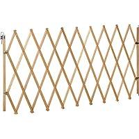 IB-Style Absperrgitter für Hunde Lin XXL - 62-230 cm Natur - Buche Massiv | Ziehharmoinka Türgitter Zaun Absperrung Hindernis Barriere
