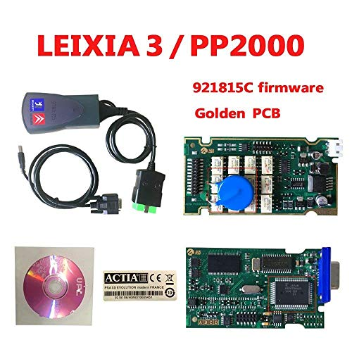DingSheng PP2000 Lexia 3 V48 PP2000 V25 Lexia 3 Citroen Peugeot, Originalprogramm einfache Version Auto Diagnosedetektor Diag PP2000 Multi Sprache Version