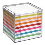 Zettelbox Notizzettel Notizen 700 Stück in Box weiß/farbig in Kunststoffbox zur praktischen Entnahme Notizen Notizzettel